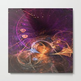 Fairy Grove - Abstract Fractal Artwork Metal Print