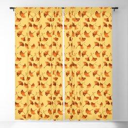 Orange Ginkgo Blackout Curtain