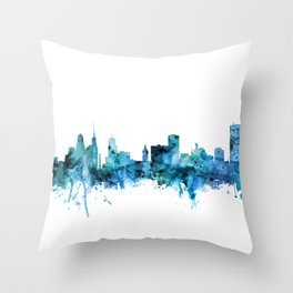 Buffalo New York Skyline Throw Pillow