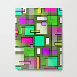 Color Structure Metal Print