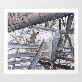 The Mnemoplex - nano carbone cristal based city Art Print