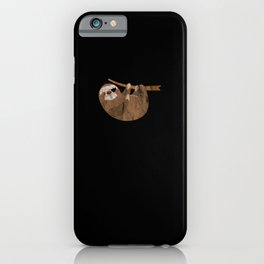 Three-Toed Sloth Eye Patch Laziness Gift iPhone Case