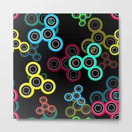 Spinner kids fun toy fidget spinner hand spinner Metal Print