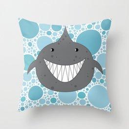 I Ain't Afraid of No Shark Throw Pillow