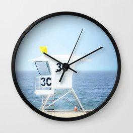 Lifeguard Hut, Southern California Beach Art by Murray Bolesta! Wall Clock