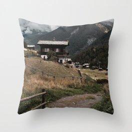 Swiss Village Throw Pillow