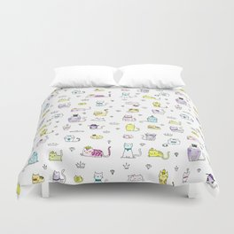Cats in Couture Duvet Cover
