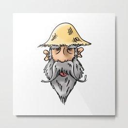 Man with Straw Hat Metal Print