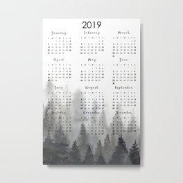 2019 calendar Metal Print