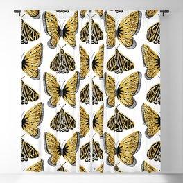 Golden Butterfly & Moth Blackout Curtain