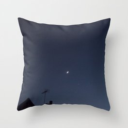 The moon and Venus Throw Pillow