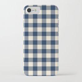 Buffalo Plaid Rustic Lumberjack Blue and White Check Pattern iPhone Case
