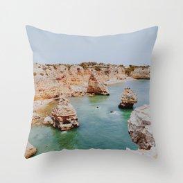 summer coast vi / algarve, portugal Throw Pillow
