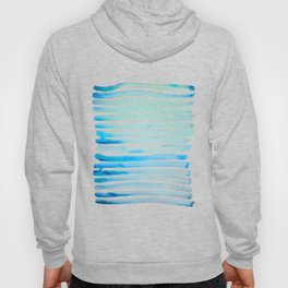 New Year Blue Water Lines Hoody