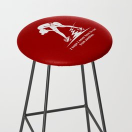 Running from Zombies Bar Stool
