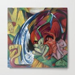 "Franz Marc ""The Waterfall"" Metal Print"