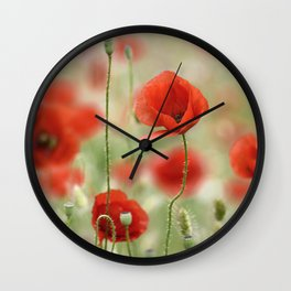 Dream poppies. Wonderful spring Wall Clock