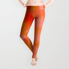 Cherries, Tangerines, and Cream Leggings
