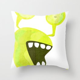 Snaily Snail Throw Pillow