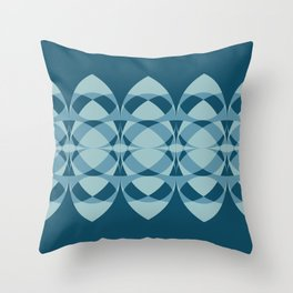 Surfboards in Blue Throw Pillow