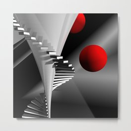 go upstairs -2- Metal Print