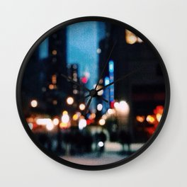 hazy cityscape Wall Clock