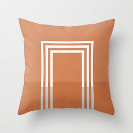 Portals - The Square - Rust Throw Pillow