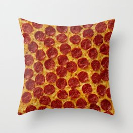 Pizza Pepperoni Throw Pillow