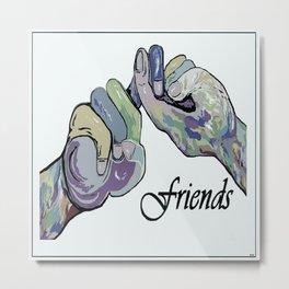 ASL Friends Denim Coloring Metal Print