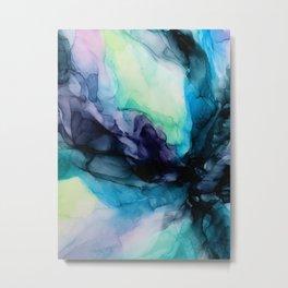 Sweet Pea Pastel Abstract Chaos   Calming Fluid Art Metal Print