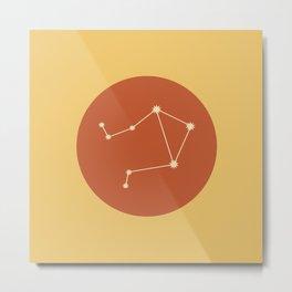 Libra Constellation - Bold Red & Yellow Metal Print