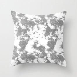 Soft Gray Tie-Dye Throw Pillow