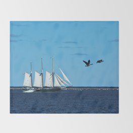 Sails & Geese Throw Blanket