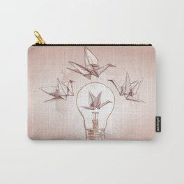 Origami paper cranes and light Carry-All Pouch