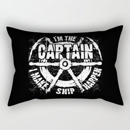 Boating - I'm The Captain Rectangular Pillow