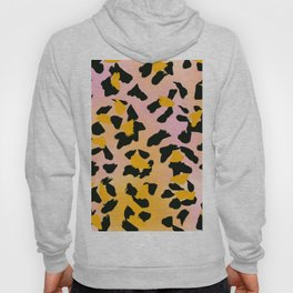 Painted Leopard Skin with Pink/Yellow Tint Background #decor #society6 #buyart Hoody