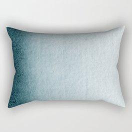 Teal Vertical Blur Abstract Art Rectangular Pillow