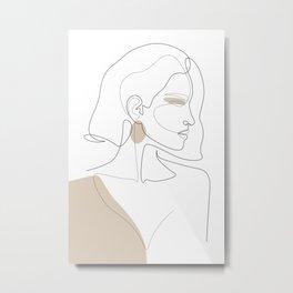 Latte Girl Metal Print