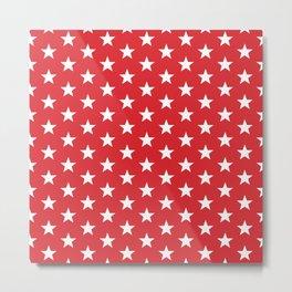 Superstars White on Red Medium Metal Print