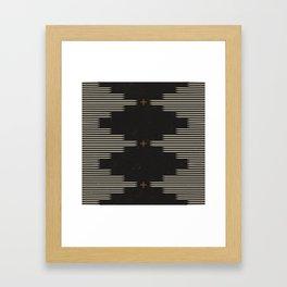 Southwestern Minimalist Black & White Framed Art Print