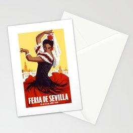 Spain 1959 Seville April Fair Travel Poster Stationery Cards