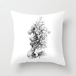 Vicentije Water Dragon Throw Pillow