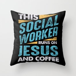 Social Worker Jesus Religion Throw Pillow
