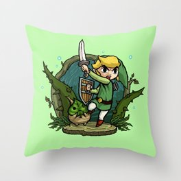 Legend of Zelda Wind Waker Forbidden Woods Temple T-Shirt Throw Pillow