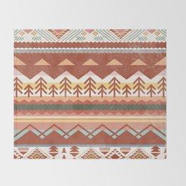 Boho Graphic Moroccan Oriental Carpet Modern Pattern Art Design - 1 Throw Blanket