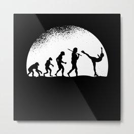 Evolution Figure Skating Metal Print