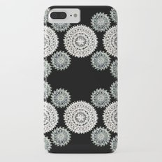 Silver and Black Mandala Circles iPhone 8 Plus Slim Case