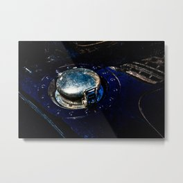 Gas Tank Locking Cap Blue Color Metal Print
