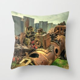 Steam for Scrap Throw Pillow