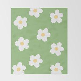 Retro 60's Flower Power Print Throw Blanket
